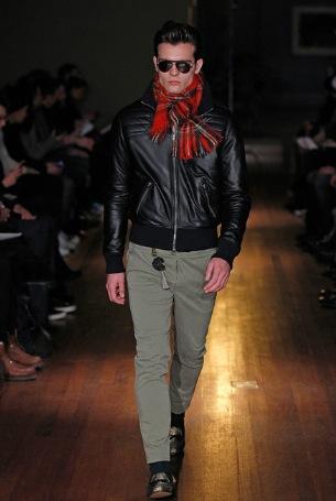 Menswear red scarf