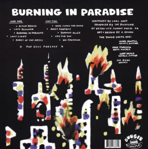 The Tough Shits - Burning In Paradise - Back Cover
